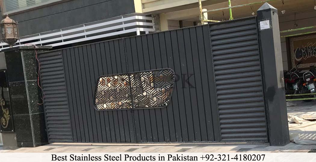 Black stainless steel gate lahore sis