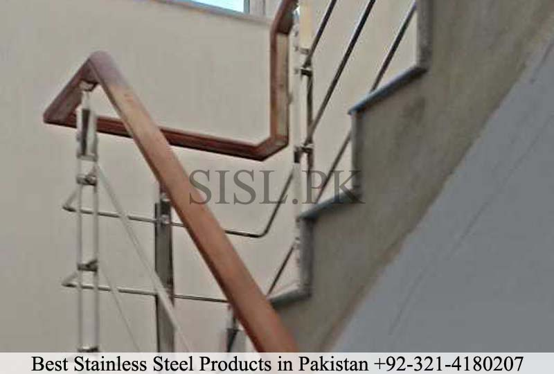 Wood and steel railing lahore